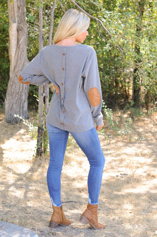 Button Back Warm Tunic