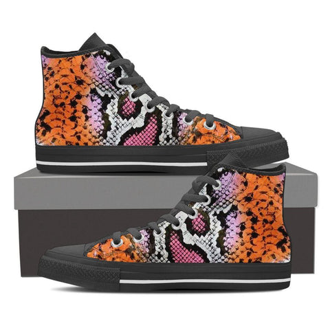 Women's Rainbow Snakeskin Print High Tops