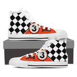 HD Motorcycle Men's High Tops White