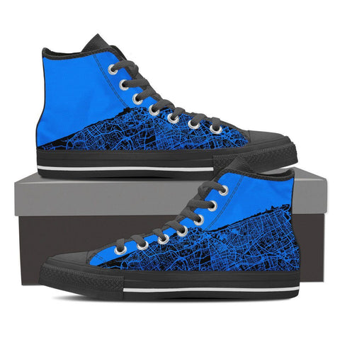 Men's Tel Aviv Map High Top - Blue