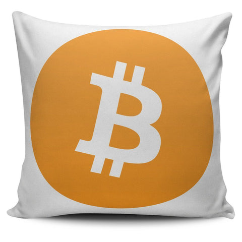 Cryptocurrency Bitcoin Pillow Cover | HODL On For Dear Life