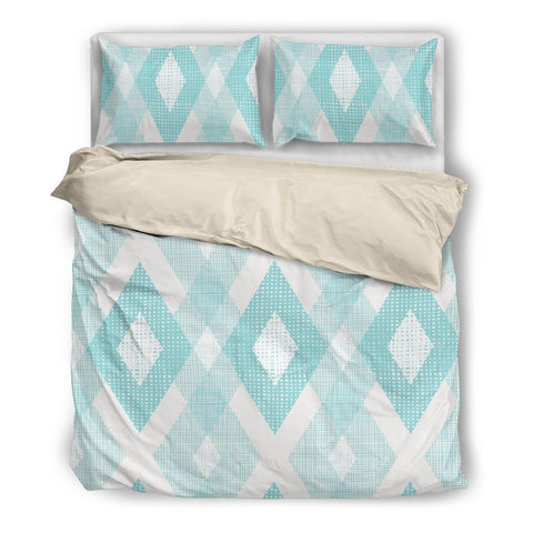Turquoise Diamonds Duvet Set