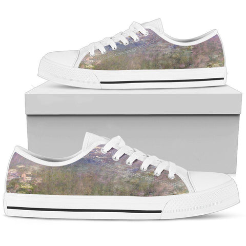 Water Lilies Women's Low Top Shoes