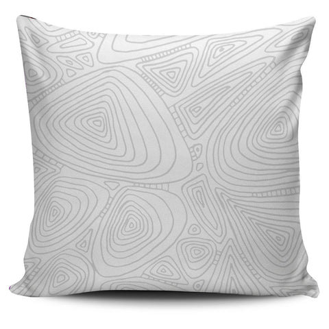 Gray Topo Lines Pillow Cover