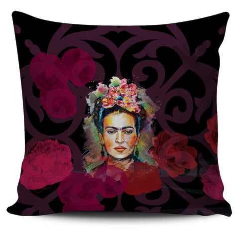Frida Kahlo Red Pillow Cover