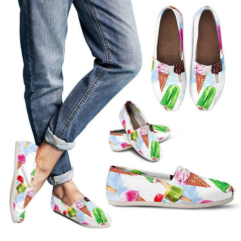National Ice Cream Month Women's Casual Shoes