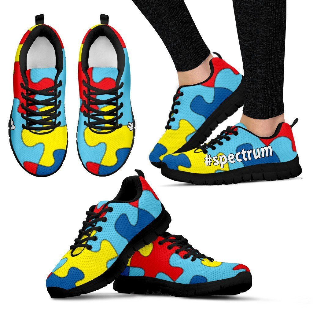 Autism Awareness  spectrum Custom Women s Athletic Shoes – The ... 9b9b9a11f