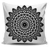 Black and White Mandala Pillow Cover