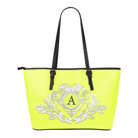 Canary Yellow Monogram Small Leather Tote