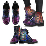 Women's Frida Kahlo Dark Purple Boots
