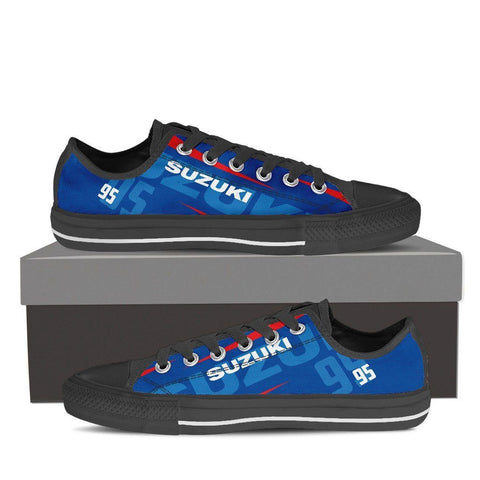 Men's Suzuki GSXR Blue Low Tops - Black