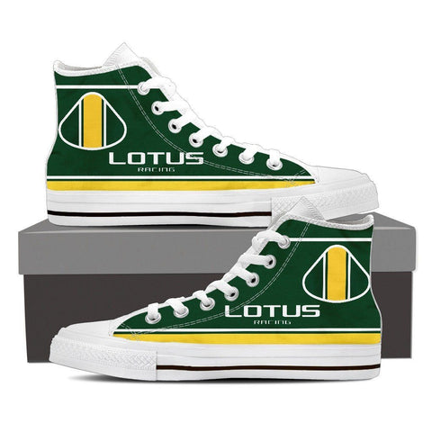 Men's Green and Yellow F1 High Tops - white