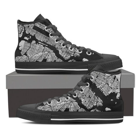 Women's NYC Map High Top Gray