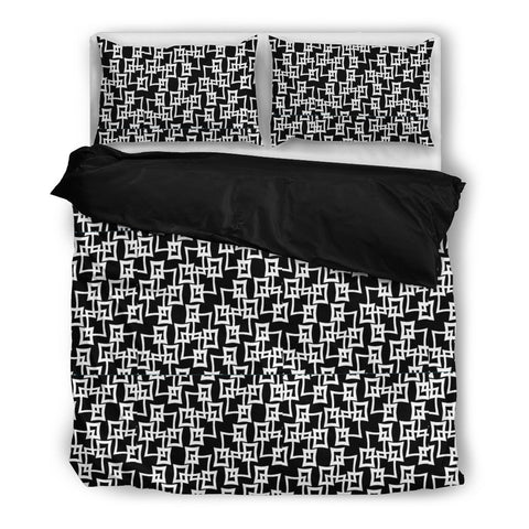 Retro Black and White Duvet Set