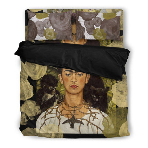 Frida Kahlo Duvet Set - Earthy Neutral