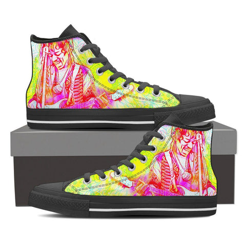 Men's Jimi Hendrix High Tops - Electric Neon