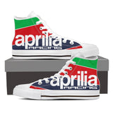 Men's Aprilia Racing High Tops - White