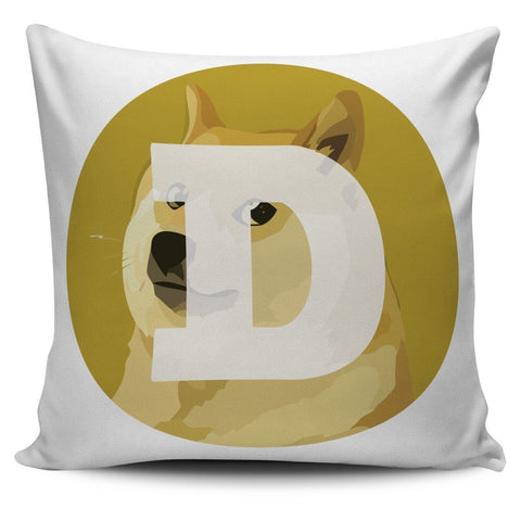 Cryptocurrency Dogecoin Pillow Cover | HODL On For Dear Life