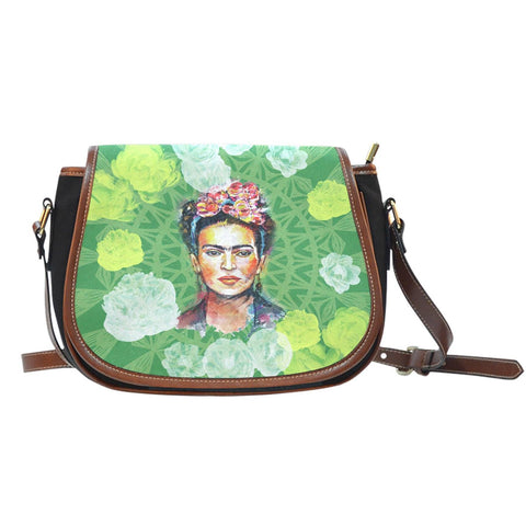 Women's Frida Kahlo Green Cross Body Bag
