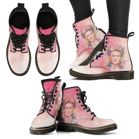 Women's Frida Kahlo Premium Boots - Watercolor Pink