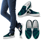 Men's Outlined Leaves Slip Ons