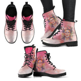 Women's Frida Kahlo Watercolor Pink Boots