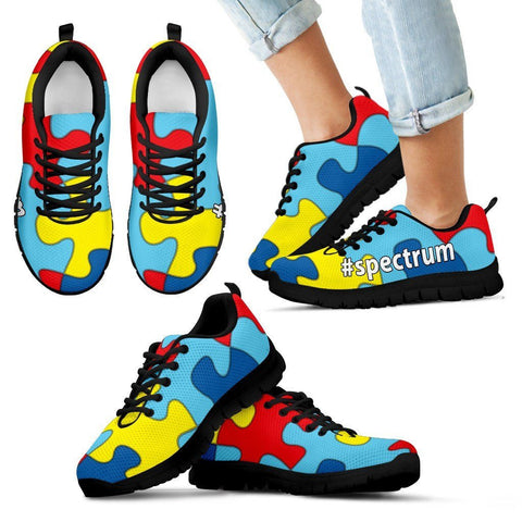 Autism Awareness #spectrum Custom Kid's Athletic Shoes