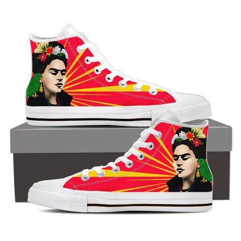 Women's Frida Kahlo Red Burst High Tops