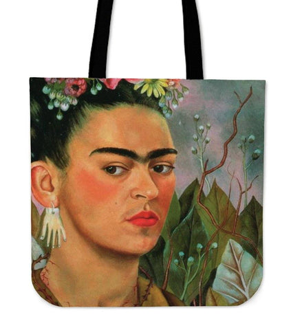 Frida Kahlo Portrait Canvas Tote