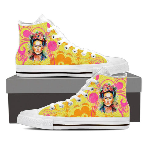 Women's Frida Kahlo Yellow High Tops