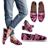 Women's Pink Ribbon Breast Cancer Awareness Casual Shoe