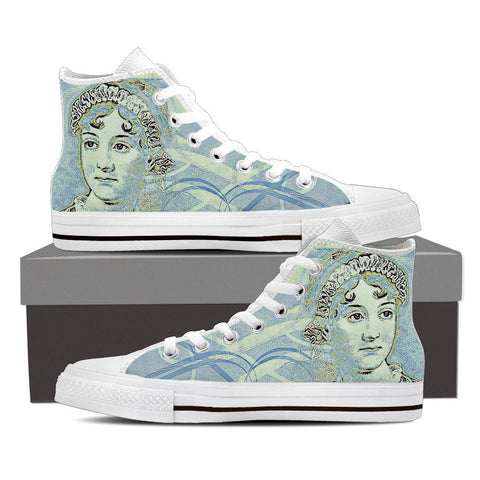 Women's Jane Austen Blue High Tops