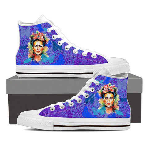 Women's Frida Kahlo Blue High Tops