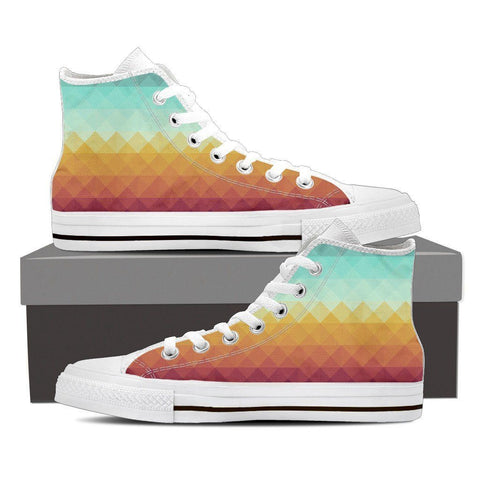 Pixel Dusk Men's High Top