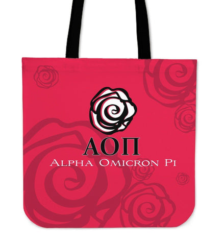 Alpha Omicron Pi Canvas Tote