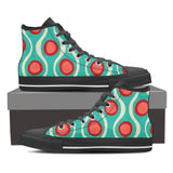Women's Teal Retro Print High Top