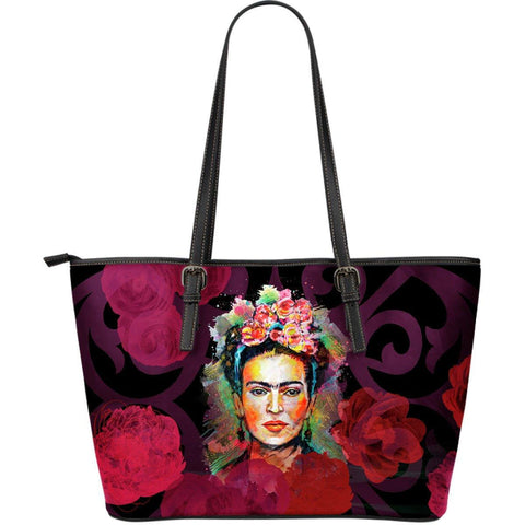 Frida Kahlo Red Large Leather Tote