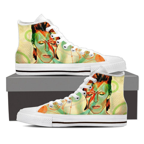 Women's Green David Bowie Tribute High Tops