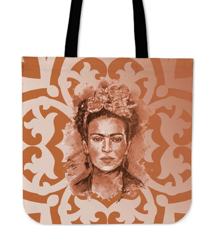Frida Kahlo Brown Canvas Tote