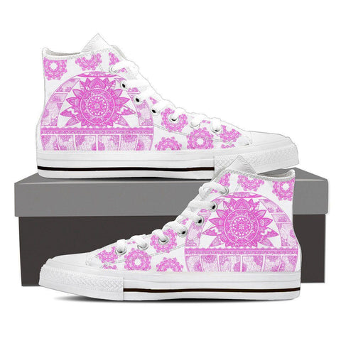 Women's Pink Mandala High Top