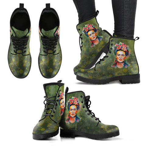 Women's Frida Green Splatter Boots