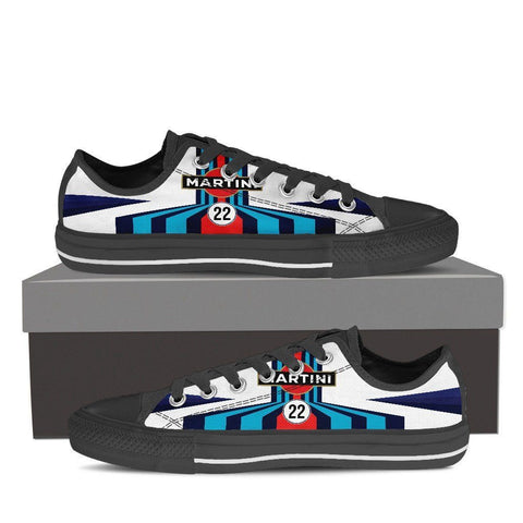 Men's Martini Racing Inspired Low Top Shoes Black