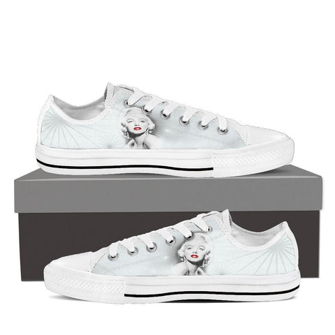 Women's Marilyn Monroe Lips Low Tops