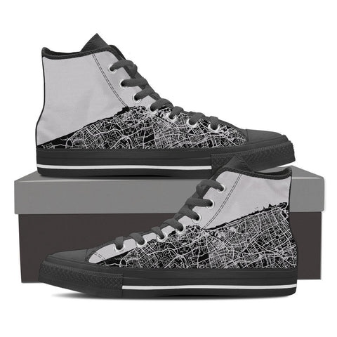 Men's Tel Aviv Map High Top - Gray
