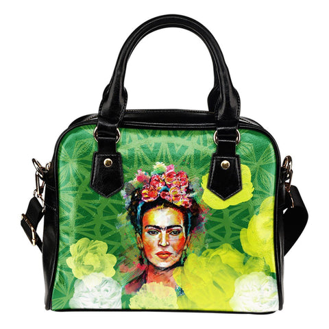 Women's Frida Kahlo Green Purse
