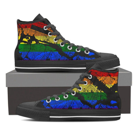 NYC Map #Pride Women's High Top