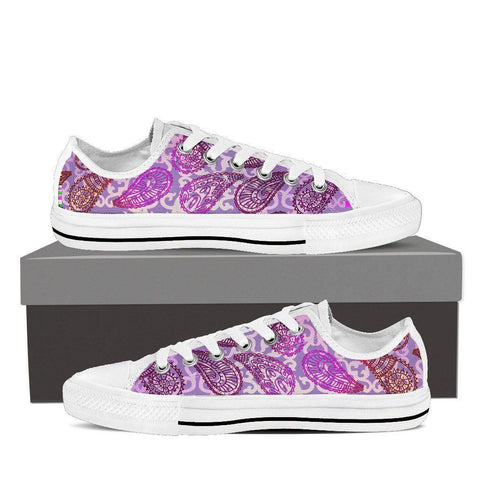 Women's Purple Paisley Low Tops