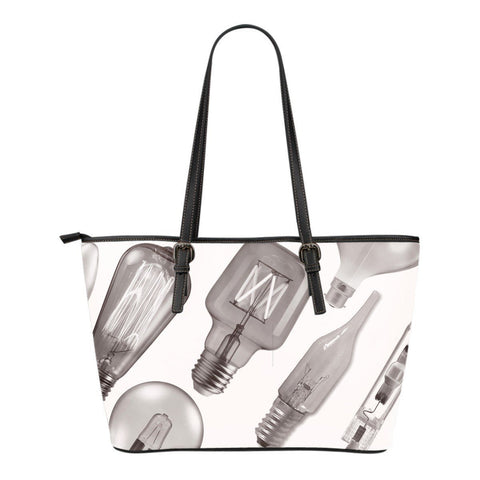 Light Bulb Small Leather Tote