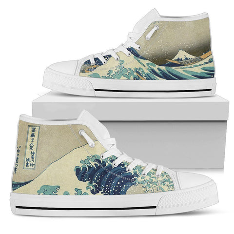 Great Wave Men's High Top Shoes
