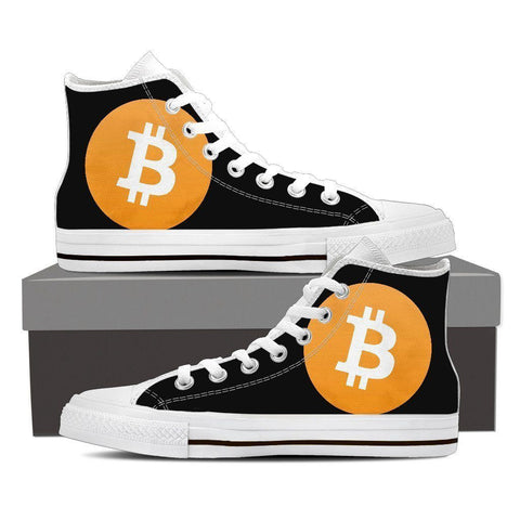 Cryptocurrency Bitcoin Women's High Tops | HODL On For Dear Life